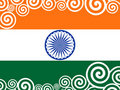 Decorated  Indian Flag for Republic Day. Royalty Free Stock Photo