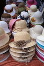 Decorated ladies' hats. Royalty Free Stock Photo