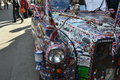 Decorated London Taxi Cab