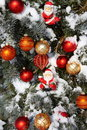 Decorated Natural Christmas Tree Stock Photography