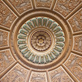 Decorated palace ceiling Royalty Free Stock Photo