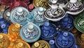 Decorated plates medina souk Royalty Free Stock Photo