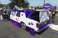 Decorated pride car a is colorfully as a float during the san diego gay parade Royalty Free Stock Photo