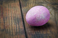 Decorated with purple glitter easter egg Royalty Free Stock Images