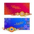 Decorated rakhi for Indian festival Raksha Bandhan