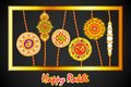 Decorated rakhi for raksha bandhan vector illustration of Royalty Free Stock Images