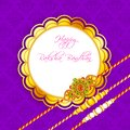 Decorated rakhi for raksha bandhan vector illustration of Royalty Free Stock Photo