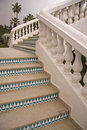 Decorated stairs in nice perspective Stock Image