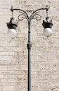 Decorated streetlamp classic wrought iron Royalty Free Stock Photos