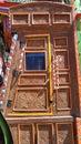 Decorated wooden door of a truck