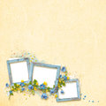 Decoratibe frame for photo in scrapbook style.