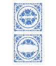 Decoratin buton faience vintage vector illustration Royalty Free Stock Photo