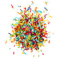 Decorating colored sugar sprinkles Royalty Free Stock Photo