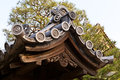Decoration of arched entrance roof nijo castle kyoto japan Royalty Free Stock Images