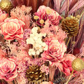 Decoration artificial flower vintage background