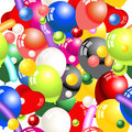 Decoration balloons seamless vector illustration of pattern Royalty Free Stock Photography