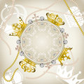 Decoration crowns frame Royalty Free Stock Photography