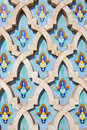 Decoration of Hassan II Mosque Royalty Free Stock Images