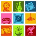 Decoration icons Royalty Free Stock Photos