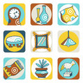 Decoration icons Royalty Free Stock Photography