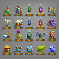Decoration icons for games. Royalty Free Stock Photo