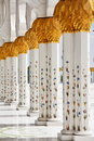 Decoration of Sheikh Zayed Mosque. Abu Dhabi Stock Photography