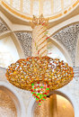 Decoration of Sheikh Zayed Mosque. Abu Dhabi Stock Photo
