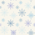Decoration snowflakes seamless background pastel colored Royalty Free Stock Photos
