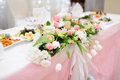 Decoration wedding table flowers Royalty Free Stock Photography