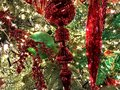 Decorations, Christmas Holiday, Red and White Ornaments Royalty Free Stock Photo