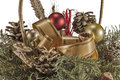 Decorations new year christmas and s in the arrangement Royalty Free Stock Images