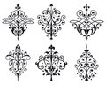 Decorations six old style vector Royalty Free Stock Image