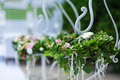Decorations for the wedding ceremony. Flowers closeup Royalty Free Stock Photo