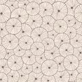 Decorative abstract seamless circle pattern endless texture with linear round elements Royalty Free Stock Images