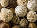 Decorative african christmas balls background Stock Image