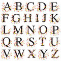 Decorative alphabet illustration of super caps letters Royalty Free Stock Photo
