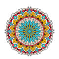 Decorative arabic round lace ornate mandala. Vintage vector pattern for print or web design. abstract colorful Royalty Free Stock Photo