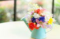 Decorative artificial flower in vase Royalty Free Stock Photography