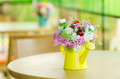 Decorative artificial flower in vase Royalty Free Stock Photo