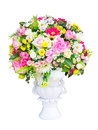 Decorative artificial flowers on white background Stock Photography