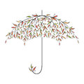 Decorative autumn umbrella Royalty Free Stock Image