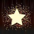 Decorative background with confetti from stars Royalty Free Stock Photo