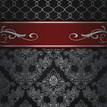 Decorative background with elegant red border. Royalty Free Stock Photo