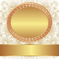 Decorative background with gold frame for text Royalty Free Stock Images