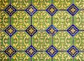 Decorative background, mosaic of pattern tiles, azulejos from Spain