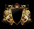 Decorative background with shield