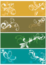 Decorative banners Royalty Free Stock Photography