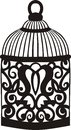 Decorative bird cage retro ornamental pattern Stock Photos