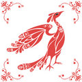Decorative bird vector Royalty Free Stock Photo