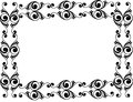 Decorative black floral frame Royalty Free Stock Photo